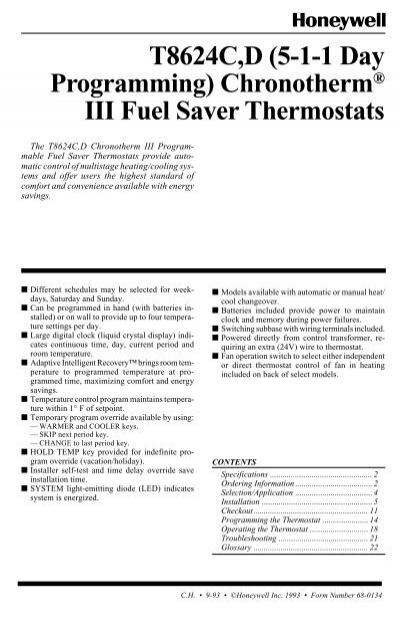 Thermostat Wiring Diagram Honeywell Chronotherm Iii Wiring from www.yumpu.com