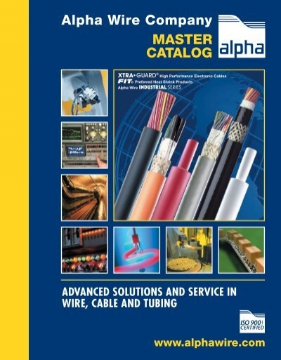 Alpha Wire Company MASTER CATALOG - YE International | Aerial Lead Conn Central Wiring Harness Single Parts Housing See |  | Yumpu