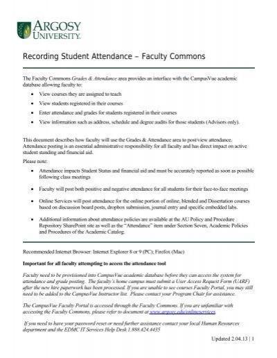 faculty commons argosy