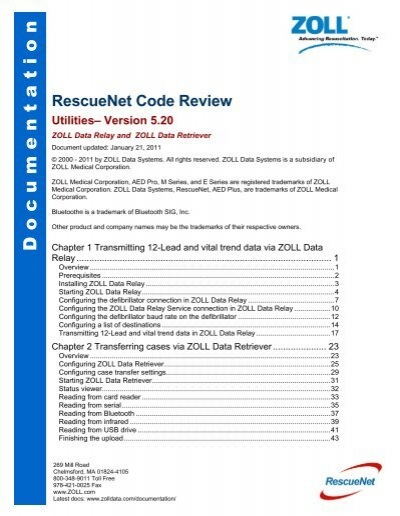 RescueNet Code Review Utilities - ZOLL Data Systems