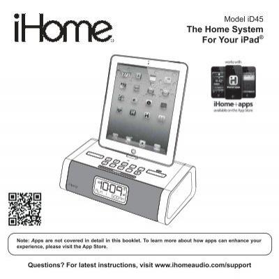 Id45 User Manual Ihome