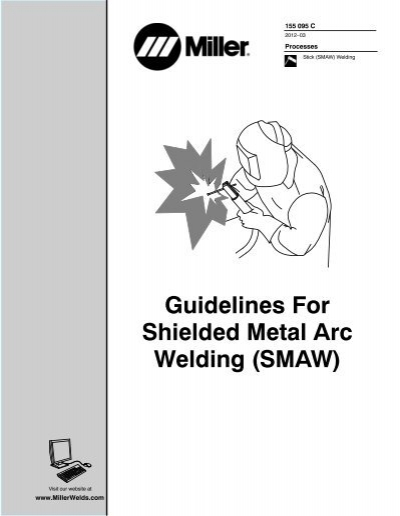 Guidelines For Shielded Metal Arc Welding Smaw