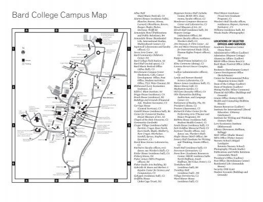 Moravian Campus Map.Bard College Campus Map