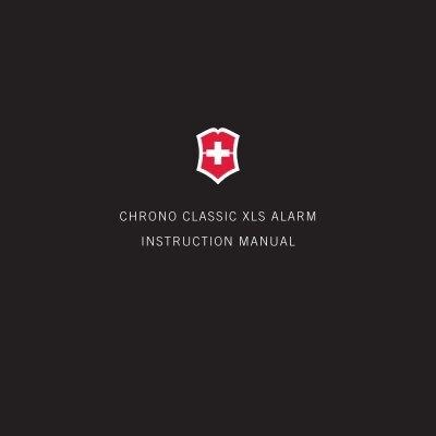 Swiss army chrono classic xls alarm men's watch model: 241280.