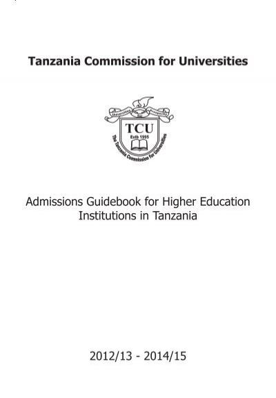 tanzania commission for universities admissions guidebook tcu rh yumpu com Guidebook App Guidebook Icon