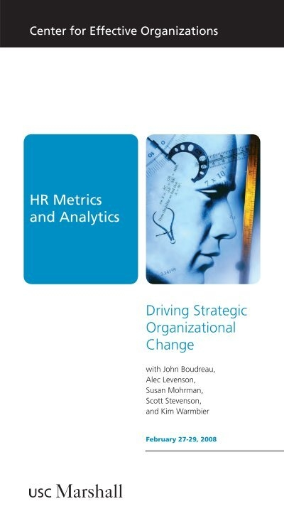 Hr Metrics And Analytics Driving Strategic Organizational Change