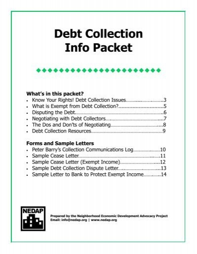 Sample Debt Collection Letter from www.yumpu.com