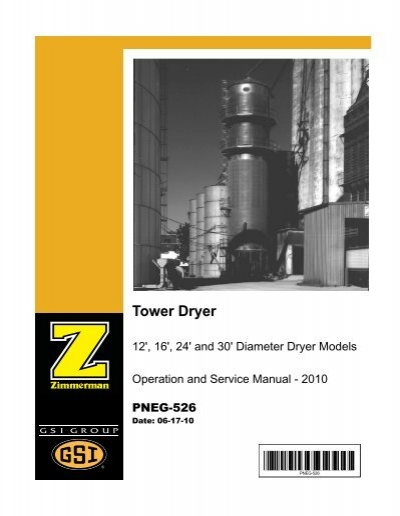 Zimmerman/GSI Tower Dryer Operation and Service Manual - ffi