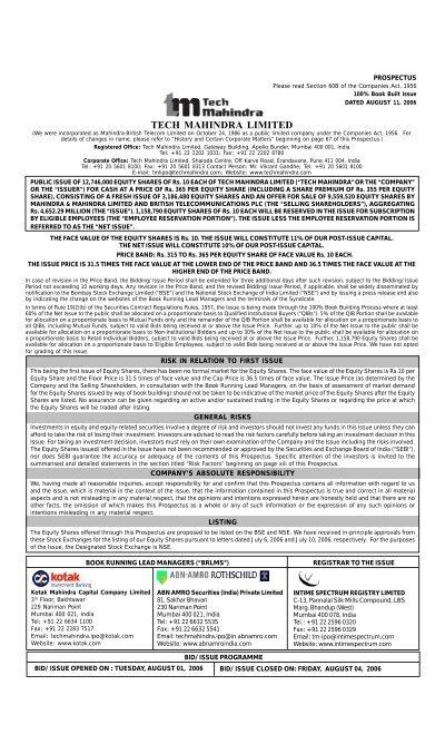 Tech Mahindra Limited