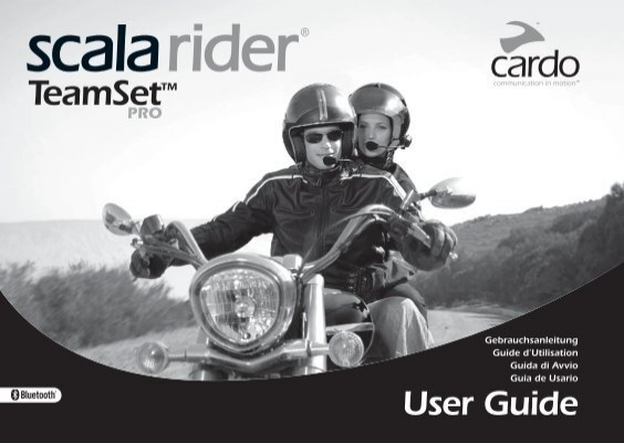 scala rider teamset pro manual cardo systems inc rh yumpu com Healthrider Manual JohnF Rider Schematics