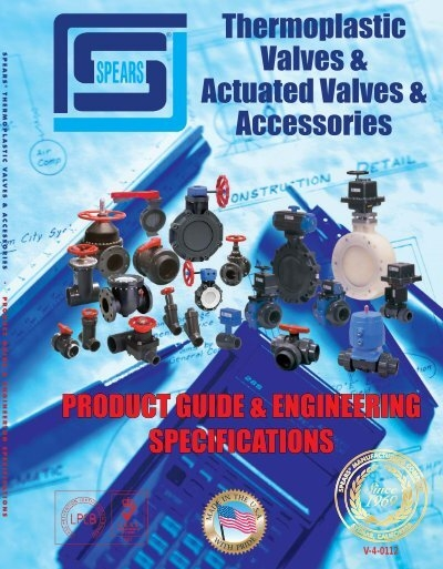 Spears 1723-012CL PVC Schedule 80 Y-Pattern Valves