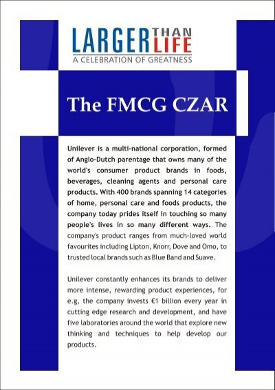 case unilever as a multi local multinational Can a massive multinational become zero-waste unilever multinational companies like unilever are in a unique with the local community.