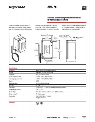 amc f5 datasheet pentair thermal controls rh yumpu com Gas Gauge Fuse and Relay Box Diagram for 97 Wrangler Data Center Module Diagram