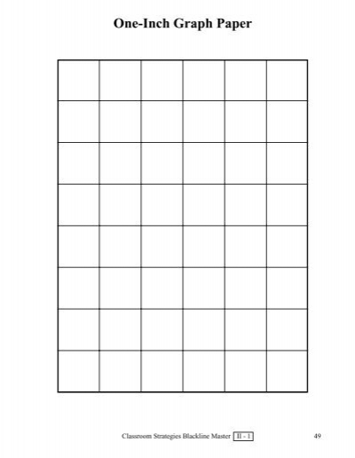 One-Inch Graph Paper