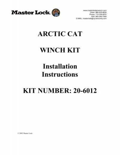arctic cat m8 manual