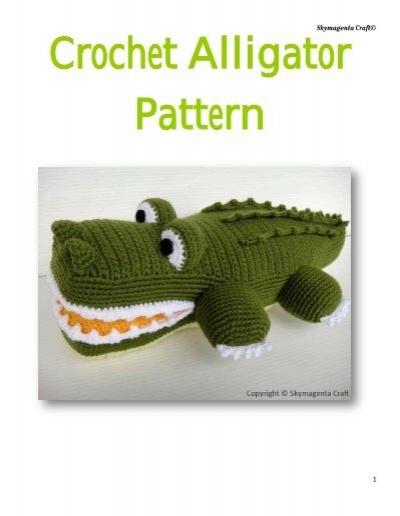 Crochet Alligator Pattern Liveinternet
