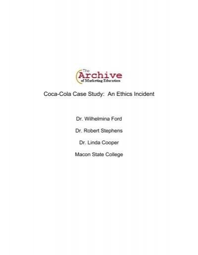 coca cola ethics case study