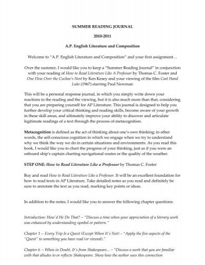 Need help with AP Lit Assignment?