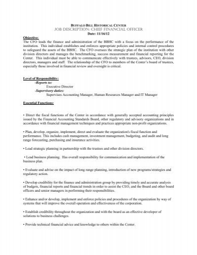 Job Description Chief Program Officer Cpo  Pccyfs