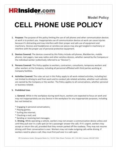 company driving policy template - mobile phone policy in the workplace template images
