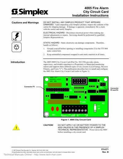 4005 fire alarm city circuit card installation instructions. Black Bedroom Furniture Sets. Home Design Ideas
