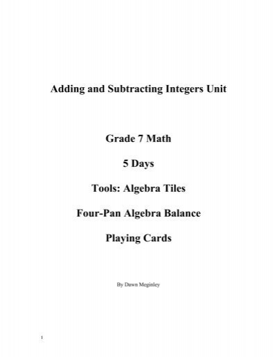Simple One Digit Addition Worksheets Pdf Grade  Math Integers Worksheets  Worksheet  Adding And  A Level Physics Worksheets Pdf with Open Court Worksheets Pdf  Add And Subtract Integers Worksheet Math Warehouse  Grade  Math  Integers Worksheets Super Teacher Worksheets Addition Pdf