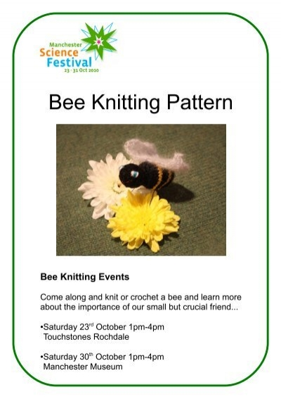 Pattern For Knitted Bees Manchester Science Festival