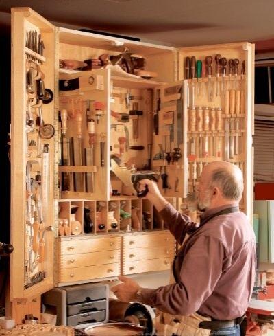 Slant Front Tool Cabinet Plan Woodsmith Shop
