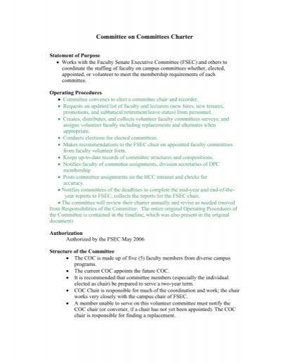 Hcc committee charter template maxwellsz