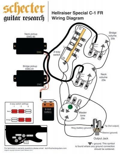 Схема датчиков электрогитар