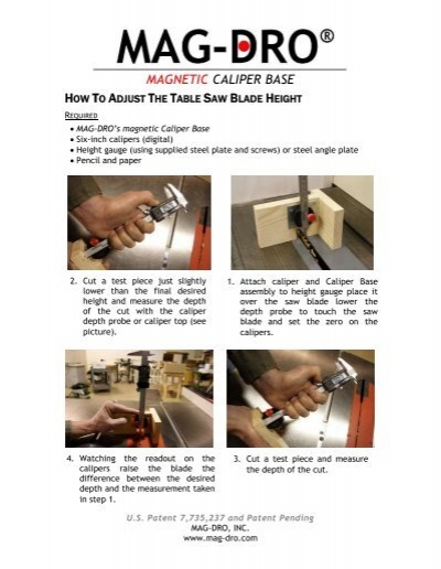 magnetic caliper base - Mag-Dro Home