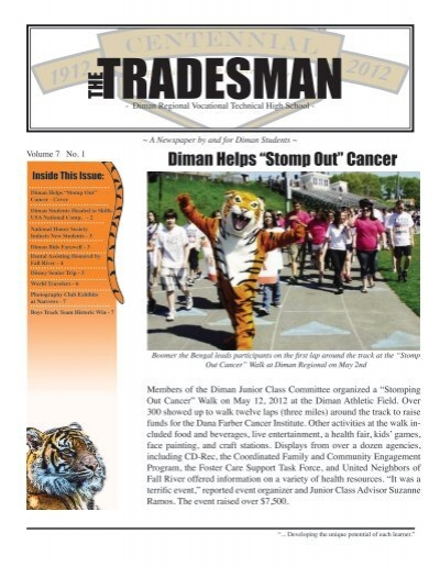"Diman Helps ""Stomp Out"" Cancer - Tradesman - Diman Regional"