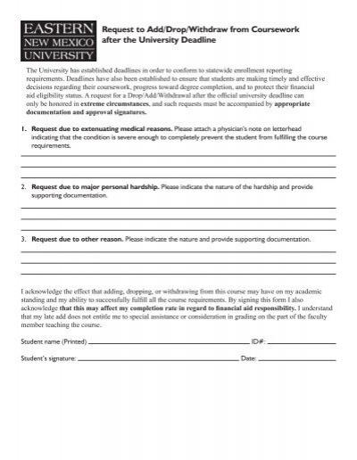 Undergraduate ProceduresD