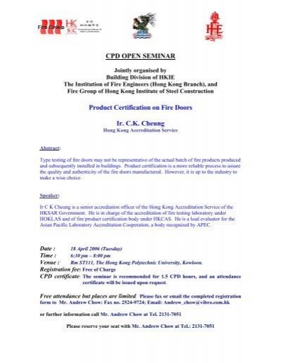Fire Certificate - Distinctive Doors