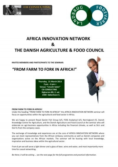 Africa Innovation Network The Danish Agriculture Food Council