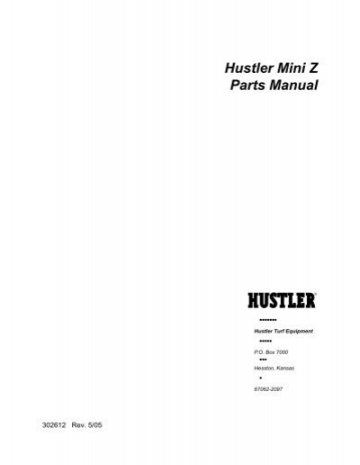 hustler mini z parts manual rh yumpu com