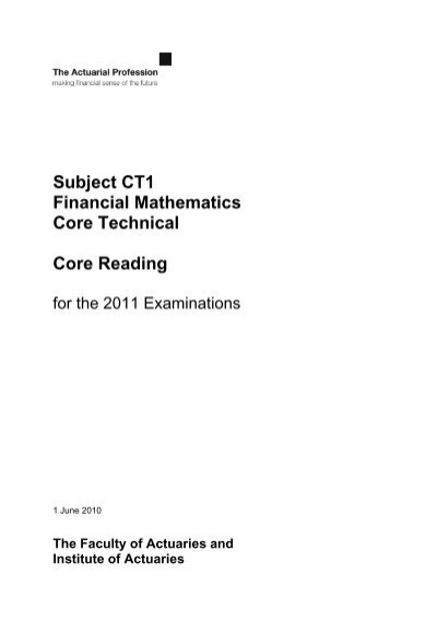Subject ct1 financial mathematics core technical core reading fandeluxe Gallery
