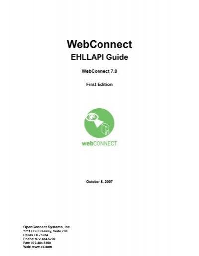 WebConnect Ehllapi Functi