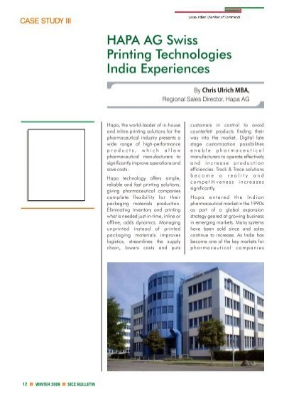 HAPA AG Swiss Printing Technologies – India Experiences cdr