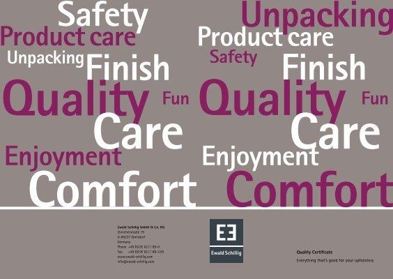 enjoyment product care product care enjoyment ewald schillig. Black Bedroom Furniture Sets. Home Design Ideas