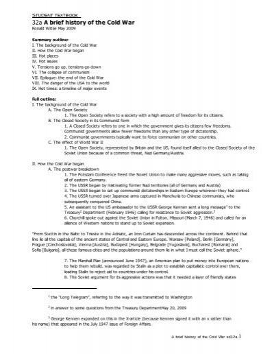 Ppdst32a The Cold War With Timeline Worksheet Pdf