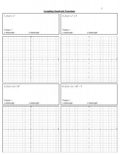 3 graphing quadratic functions worksheet. Black Bedroom Furniture Sets. Home Design Ideas