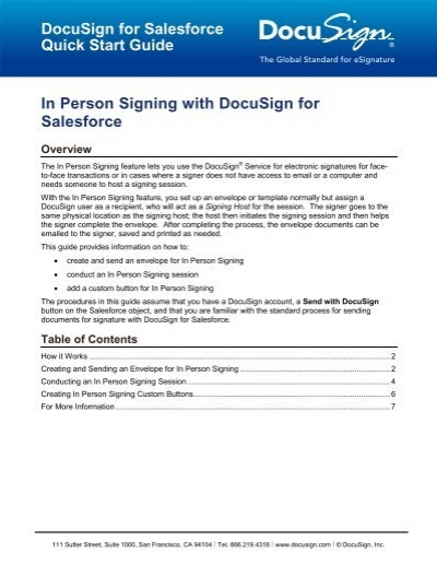 docusign in person signing