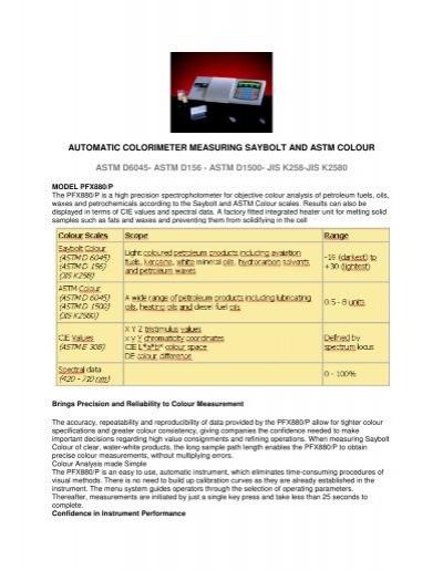 Colour Saybolt Scale Wwwbilderbestecom