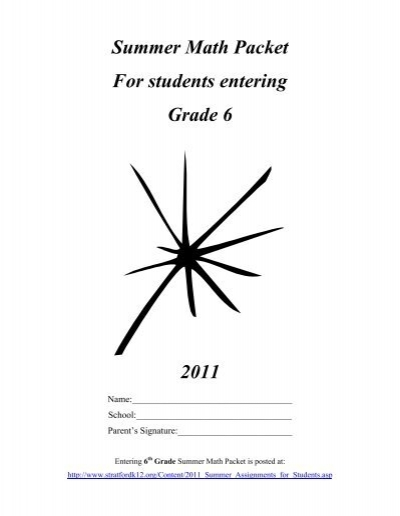 5th grade Summer review packet