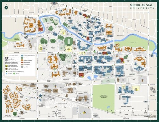 Michigan State Campus Map Full Campus Map (PDF)   MSU Campus Maps   Michigan State