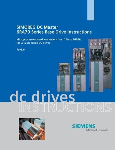 simoreg dc master 6ra70 series base drive instructions siemens rh yumpu com