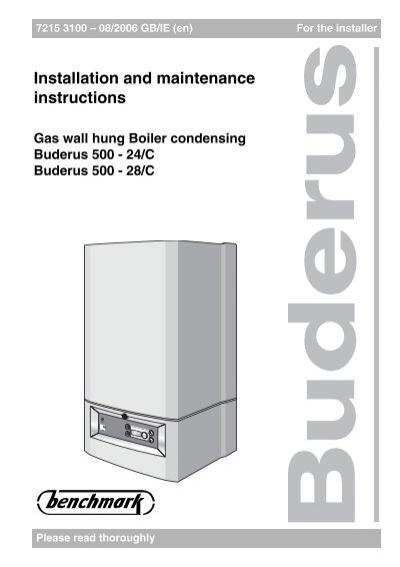 buderus boulter 500 combi boilers 24 28 installation bhl co uk rh yumpu com