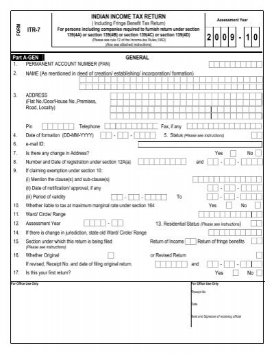 Itr 7 Indian Income Tax Return Taxguru
