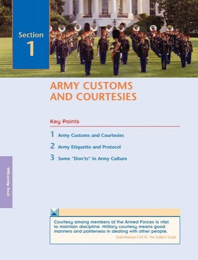 military customs and courtesies army